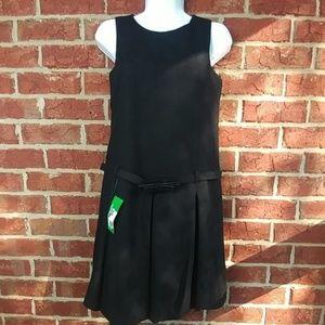 Bubble hem black dress United Colors of Benetton S
